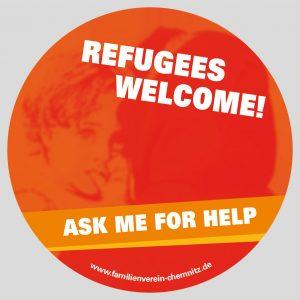 Aufkleber-Flüchtlinge