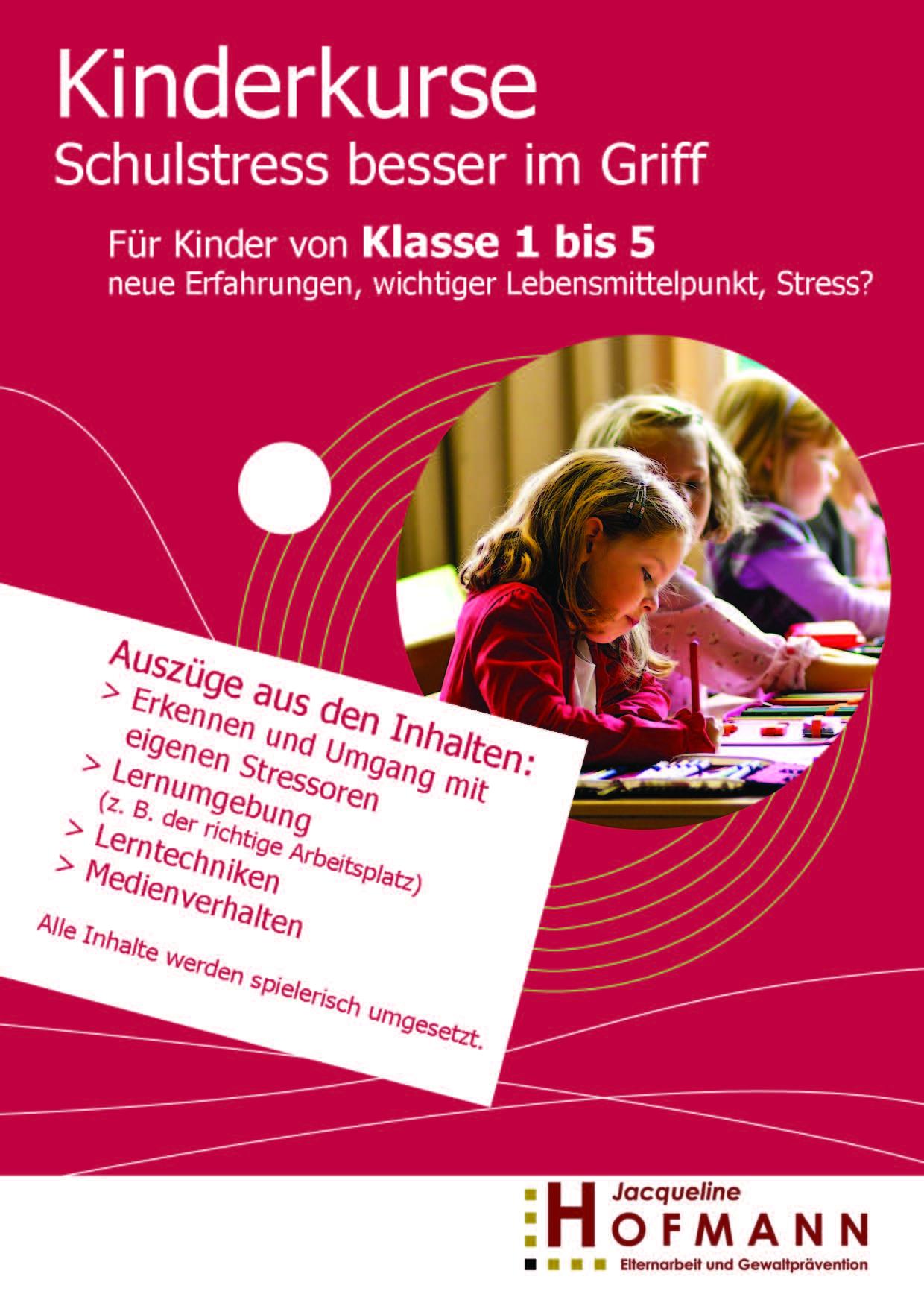 Kinderkurs Schulstress besser im Griff Chemnitz