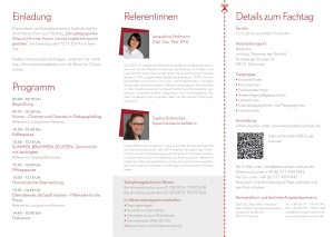 Flyer pädagogischer Fachtag Chemnitz